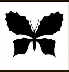 Silhouette of cute cartoon butterfly vector