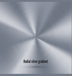 silver radial gradient with scratches metallic vector image
