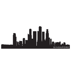 singapore asia skyline detailed silhouette vector image
