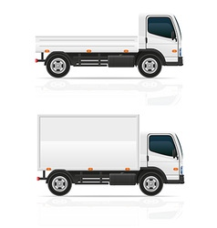 small truck 03 vector image