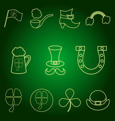 Stpatrick s day set of icons vector