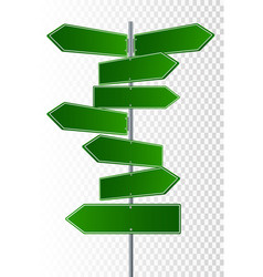 street signs 3 way vector image