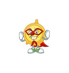 Super hero alarm clock cartoon character with vector
