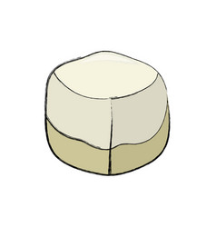 Sweet sugar cube vector