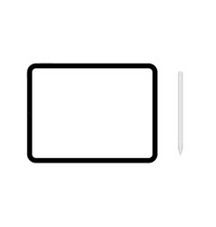 tablet mockup white pen template tab vector image