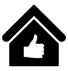 Thumb Up Building Flat Icon vector
