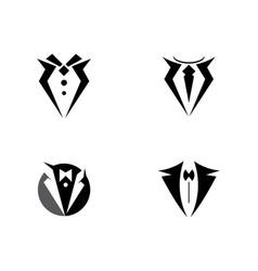 tuxedo logo template icon vector image