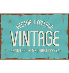 vintage typeface retro font vector image