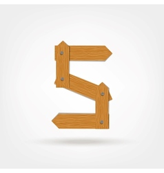 Wooden Boards Number Five vector image