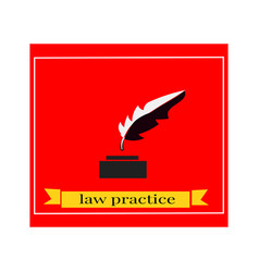 writer symbol pen logo design vector image