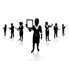business people tablets vector image