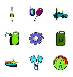 car icons set cartoon style vector image