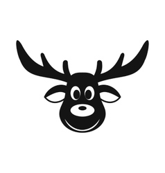 Deer christmas simple icon vector image vector image