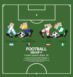 Group F 2014 Football Tournament vector image