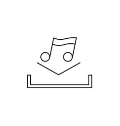music download icon vector image