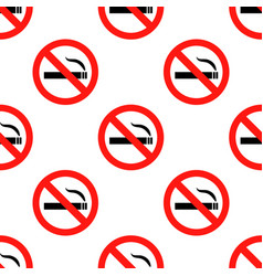 no smoking sign pattern repeat seamless in orange vector image vector image