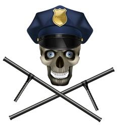 Skull in a police cap vector