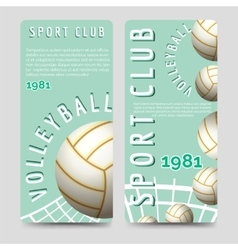 Volleyball sport club brochure template vector image vector image