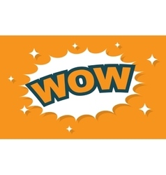 Wow wording sound effect set vector image