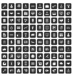 100 partnership icons set black vector image