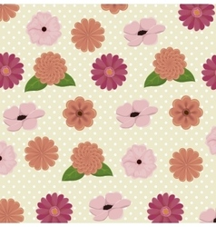 beautiful flowers decoration background vector image vector image