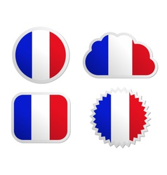 France flag labels vector image vector image