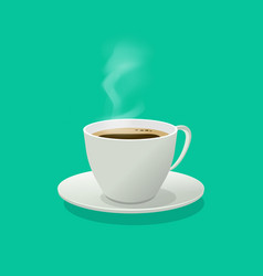 hot coffee cup glass with vector image vector image