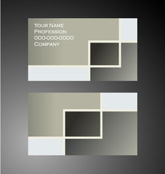 Squares - Business Card vector image