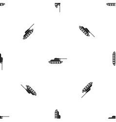 tank pattern seamless black vector image vector image