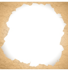 vintage torn paper hole vector image vector image