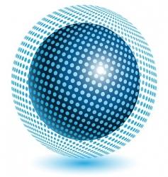 blue ball vector image vector image