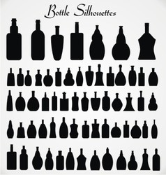 Bottle Sihouettes vector image