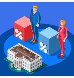 Election Infographic Presidential Score Isometric vector image vector image