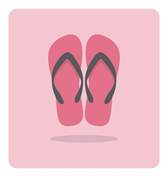 flat icon beach sandals vector image