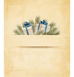 Holiday background with gift ribbon with gift box vector image
