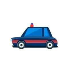 Black Police Toy Cute Car Icon vector image vector image