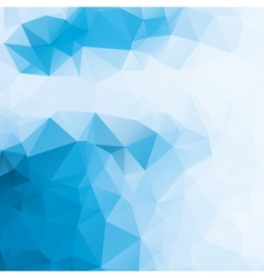 blue and white abstract background polygon vector image