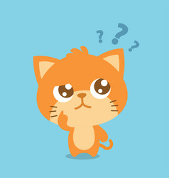 cat thinking character collection vector image vector image