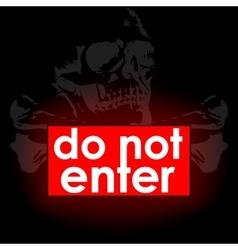 do not enter vector image
