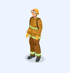 figure of a fireman in uniform professional vector image
