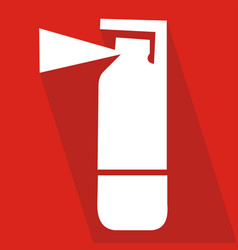 fire extinguisher icon with long shadow flat vector image