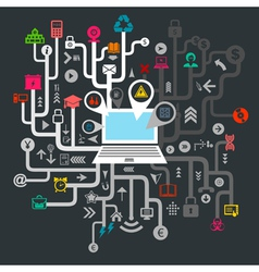 Science the computer vector image