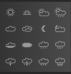 set of simple weather icons vector image vector image
