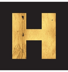 Uppercase letter H of the English alphabet vector image