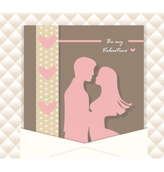 Valentine Day couple card vector image