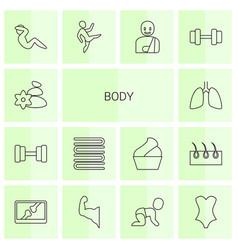 14 body icons vector