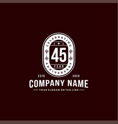45 years anniversary celebration design vector