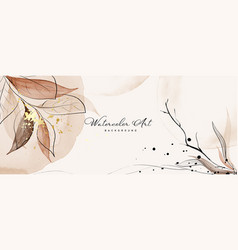 Abstract background watercolor light brown vector