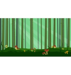 Abstract Pine Forest vector