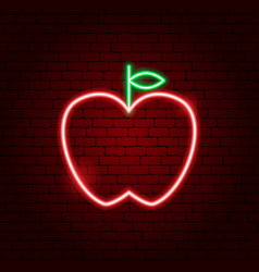 apple neon sign vector image